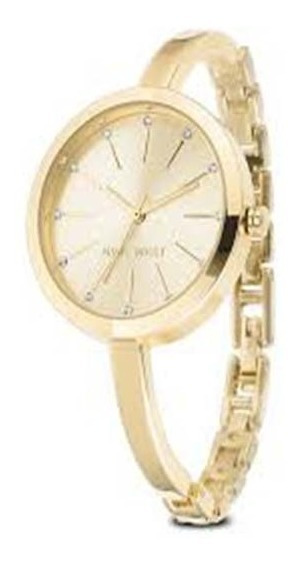 Reloj Para Dama Nine West Color Dorado Nw/2154chgpnoriginal