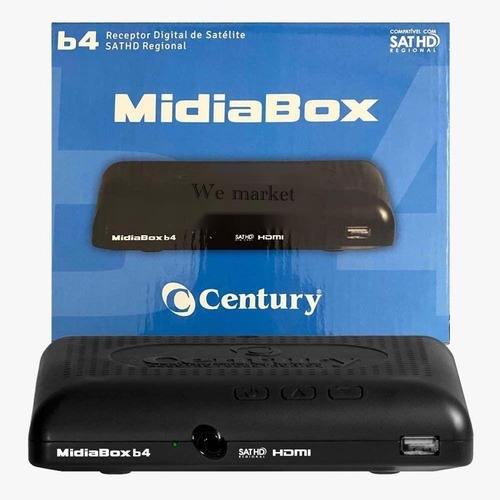 Receptor Digital Midiabox Sat Hd Century B4 Midia Box B4