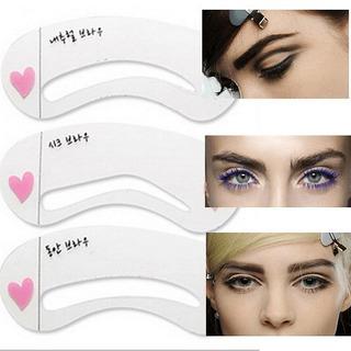 Plantilla Cejas Depilación Maquillaje 3 Estilos Diferentes