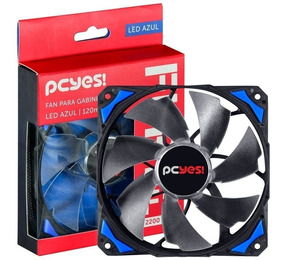 Cooler Fan Led Gabinete Gamer Azul 120mm F4 Fury Pcyes