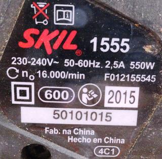 Plaina Skil 1555 550w 220v
