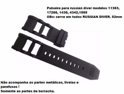 Pulseira Invicta Russian Diver 0803 15566 15567 15568 15569