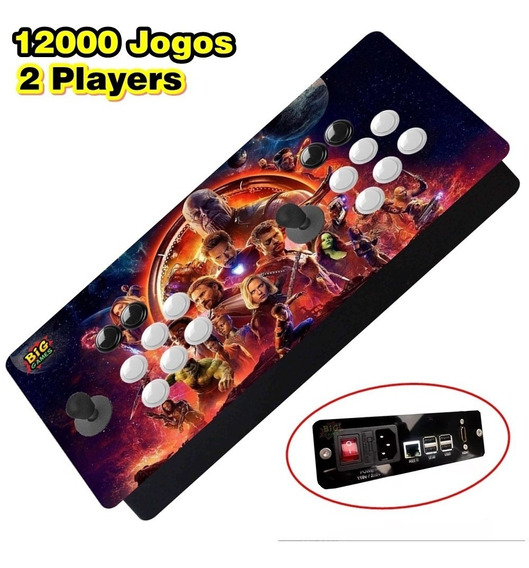 Video Game Recalbox 12mil Jogos + 2 Controles Play