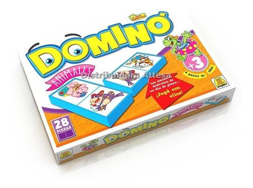 Imagen 1 de 3 de Domino De Animales Implas Juego De Mesa Juego Didactico