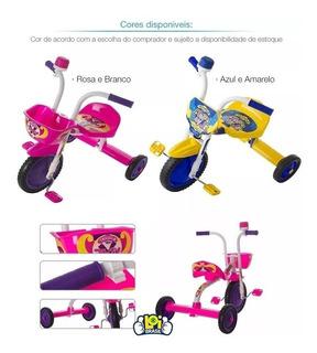 Triciclo Bicicleta 3 Rodas Infantil Pro Tork Motoca Menina