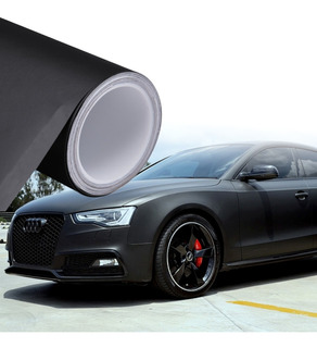 Vinilo Negro Mate 200x120cm Para Autos
