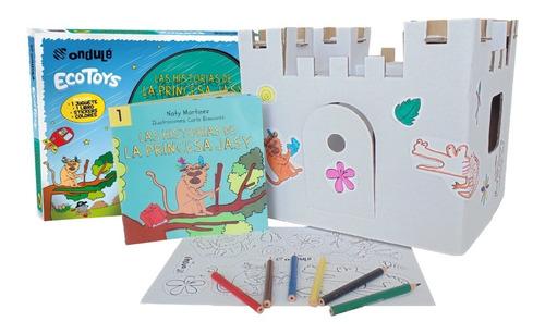 Castillo Para Pintar + Stickers + Libro Princesa Jasy