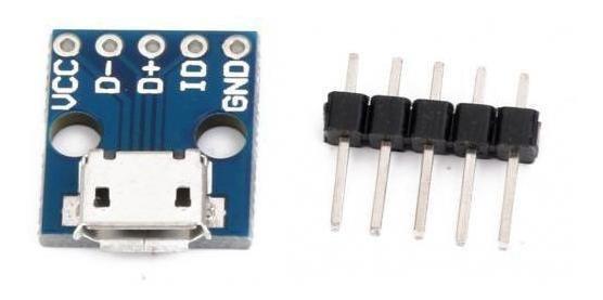 10x Micro Usb Tipo B 5pin Adaptador De Placa De Módulo De Ca