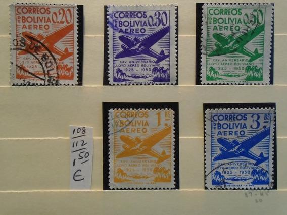 Estampillas Bolivia Aéreos.5 Sellos.eu 1,50. Impecables.