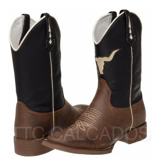 Bota Texana Country Bordada Modelo Novo Ttc108 Lançamento