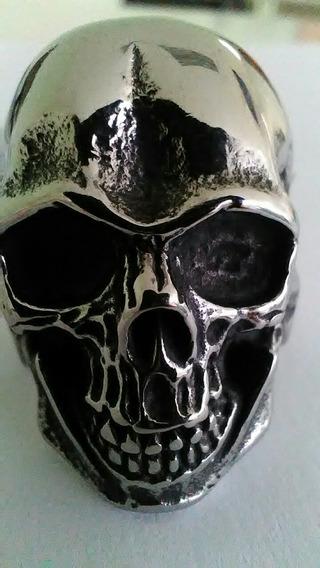 Anel Skull Aco Inox Tamanho 32
