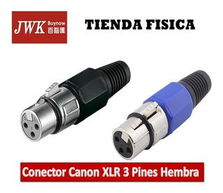 Conector De Audio Canon Xlr 3 Pines Hembra Aéreo Jwk
