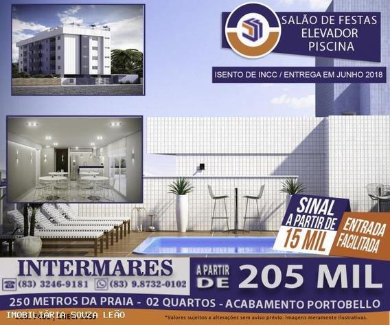 Apartamento Para Venda Em Cabedelo, Intermares, 2 Dormitórios, 1 Suíte, 1 Banheiro, 1 Vaga - 7462