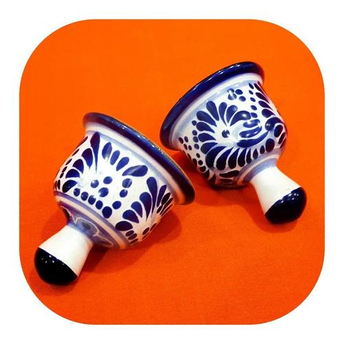 Imagen 1 de 5 de Set 80 Campanas De Talavera Poblana Color 5cm Personalizadas