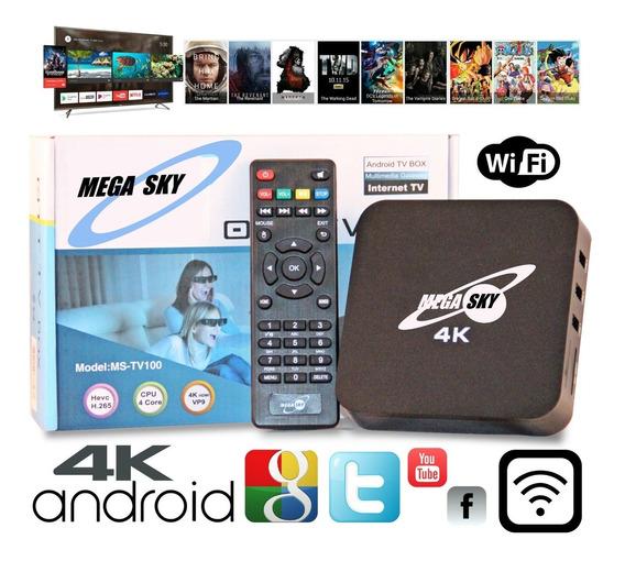 Mega Sky Tv Box 4k Android 2gb Ram Netflix You Tube Promoção