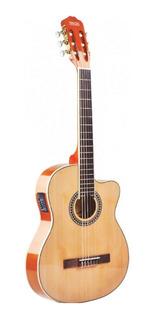 Guitarra Electrocriolla Texas Cg30-7545-nat Tex Con Funda