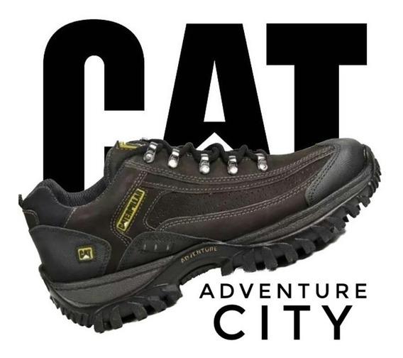 Tenis Caterpillar Adventure Couro Kit Carteiracinto Promoção
