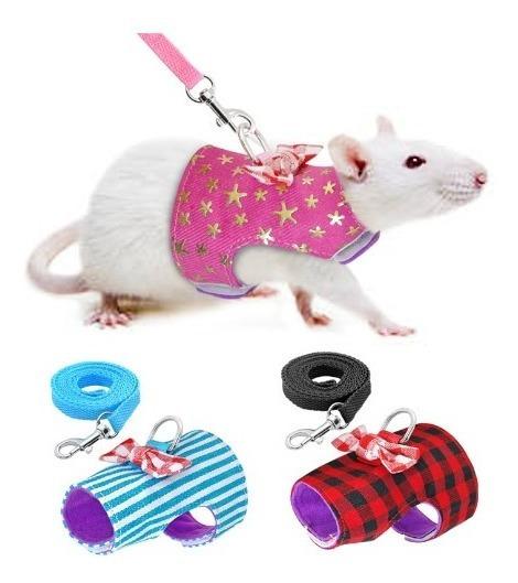 Roupa Para Hamster Peitoral + Guia