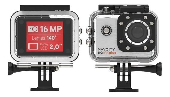 Camera Esportiva Go 4k Full Hd Filma Ng100 Pl+bateria Extra