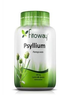 Psyllium 500mg Fitoway Com 60 Cápsulas