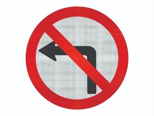 Placa Viaria Proibido Virar A Esquerda R-4 Cm