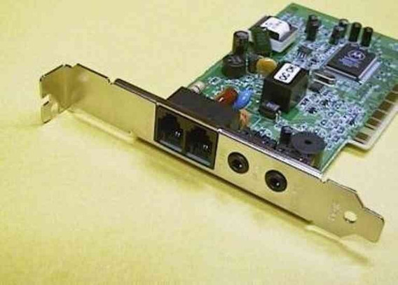 Antiguo Modem Fax Motorola 56k Con Placa De Sonido Incluida