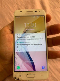 Samsung Galaxy J5 Prime 32gb Dourado -display Trincado