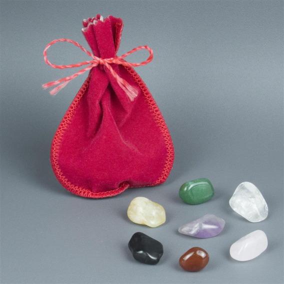 Kit De Cristais As 7 Pedras Da Sorte 1,5cm Cada