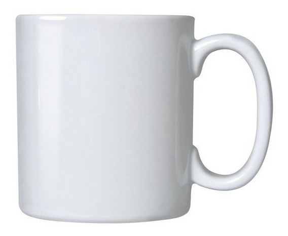 12 Canecas Branca De Porcelana Para Sublimacao 325ml Aaa