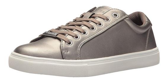 Guess Zapatos Hombre Tracker Pewter Silver Talla 46 Original