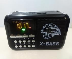 Rádio Fm Botões Numéricos Usb Micro Sd Aux Inova In-830