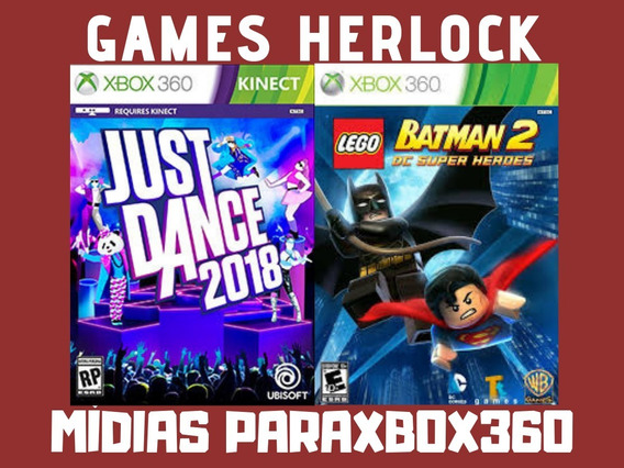 Just Dance 2018 + Lego Batman 2 - Xbox 360 - Mídia Digital