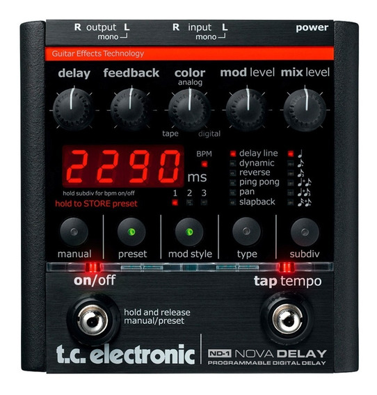 Pedal Delay Tc Electronic Nova Delay Digital Pronta Entrega