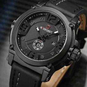 Relógio Masculino Militar Esportivo Naviforce 9099 Couro