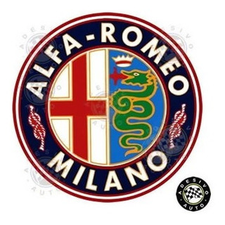 Adesivo Alfa Romeo Milano A Pronta Entrega Alta Qualidade