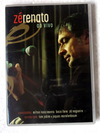 Dvd Zé Renato Ao Vivo (2007) Original Biscoito Fino Raro