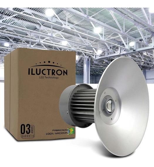 Luminária Led Galpão Industrial Branco 100w 6500k Bivolt