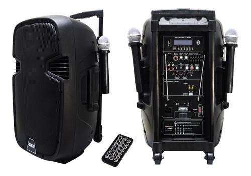 Bocina Amplificada 1200w Recargable 2 Microfonos Inalambrico