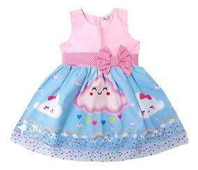 Vestido Chuva De Amor De Bênçãos Festa Infantil Temático