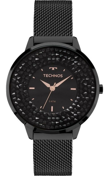 Relogio Feminino Technos Black Elegance 2035mlf1p