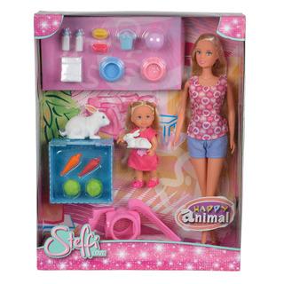 Steffi Love Simba Toys - Happy Animal Rabbit Playset