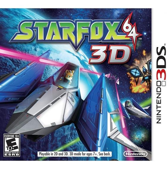 Starfox 64 3ds Mídia Física Novo Lacrado