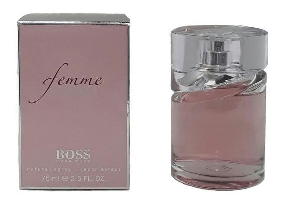 Perfume Hugo Boss Femme 75ml Edp Fem + Brinde Amostra