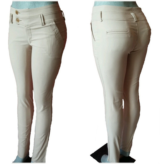 Pantalon Dama Modelo Zara Tela Chicle Bengalina Spandex
