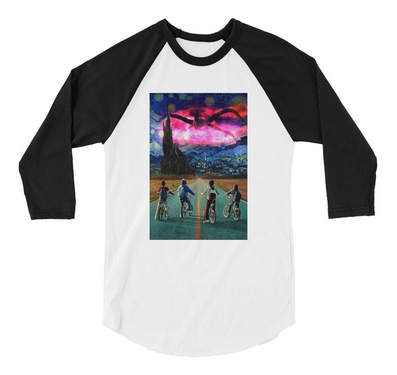 Playera Raglan 3/4 Stranger Things Van Gogh