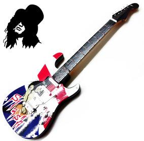 Guitarra Rock Enfeite Miniatura 25cm Guns N Roses - Slash