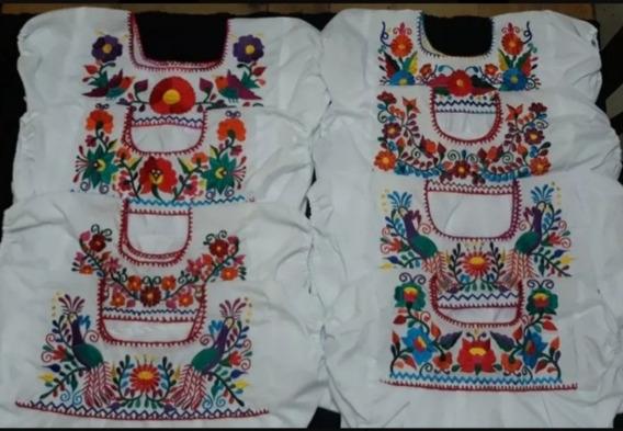 Blusas Bordadas Típicas /lote De 12 Blusas /envío Incluido