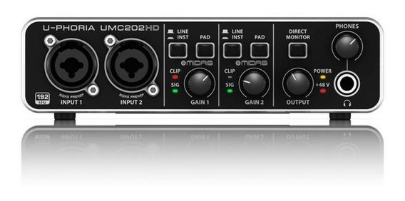 Interface De Áudio Behringer U-phoria Umc202hd