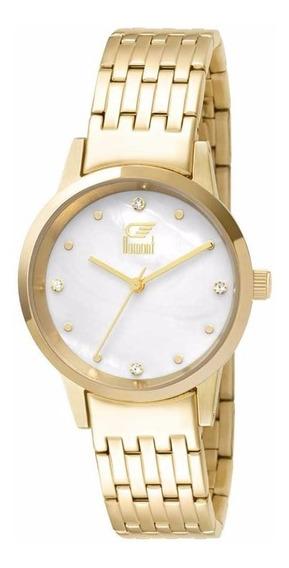 Relógio Dumont Slim Du2036ltx/4d Dourado
