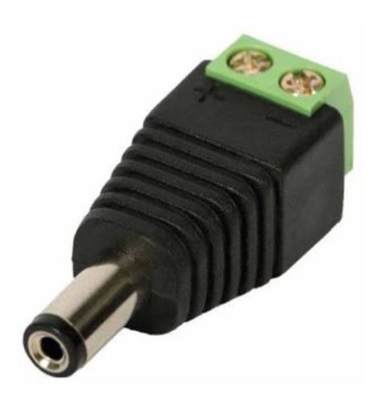 Kit Conectores Plug P4 Macho Com Borne Ligar Camera - 10 Und